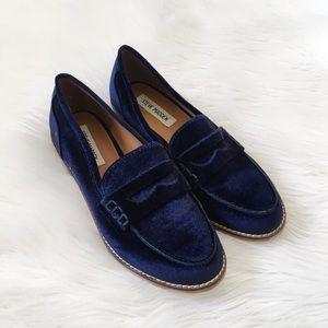 Steve Madden Blue Velvet Loafers Shoes